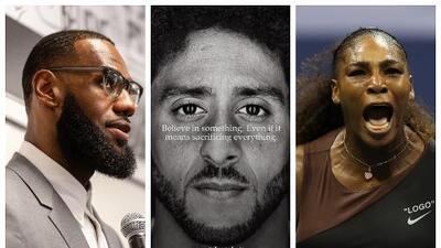 LeBron James y Serena Williams se solidarizaron con Kaepernick y Nike