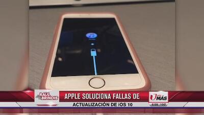 Apple soluciona fallas de actualización de iOS 10