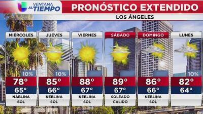 Neblina en la mañana y sol en la tarde: así estarán las condiciones del tiempo este miércoles en Los Ángeles