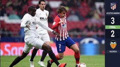 ¡Aguafiestas! Atlético de Madrid evitó la coronación del Barcelona tras vencer al Valencia