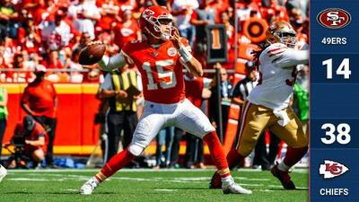 Los Kansas City Chiefs siguen invictos tras vencer a unos atribulados San Francisco 49ers
