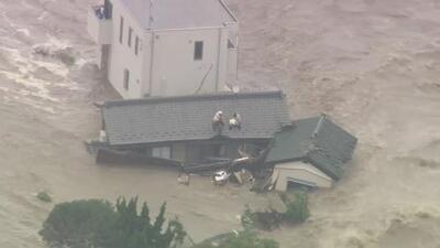 Inundación sin precedente en Japón