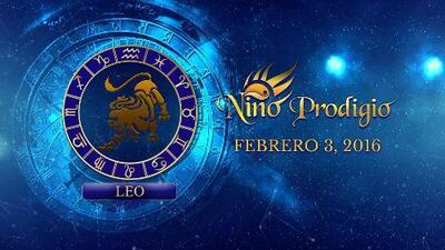 Niño Prodigio - Leo 3 de febrero, 2016