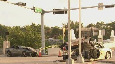 Un muerto y dos heridos, el saldo de un violento accidente de tránsito en Miami Beach