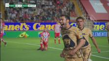 ¡Rugen los Pumas! Juan Pablo Vigón los pone adelante 0-1 sobre Necaxa