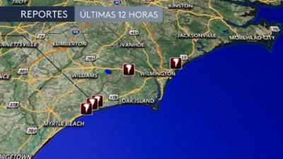 Emiten vigilancia de tornado en varios lugares de Carolina del Norte