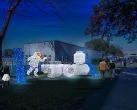 Estrena exhibición de alumbrados navideños de la NASA en Houston