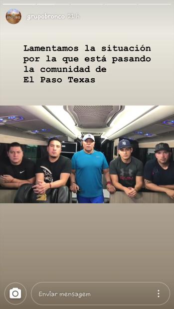 La agrupación compartió un par de clips en los que  <b>Lupe Esparza indicó que ellos sí se encontraban cerca del lugar donde ocurrió la masacre en El Paso</b>, Texas; sin embargo, al ver el caos se resguardaron.
