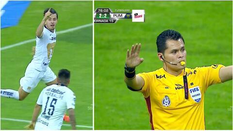 Mozo cruzó a Corona, empató el juego para Pumas… pero el VAR tumbó el gol