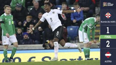 Irlanda del Norte 1 – 2 Austria – Goles y Resumen – Liga B - Grupo 3 – UEFA Nations League