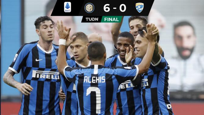 Inter de Milán golea a indefenso Brescia en la Serie A