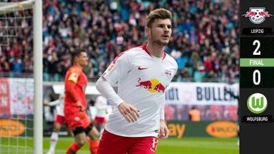 Golazos del Leipzig ante el Wolfsburg le afianzan en los puestos de la Champions