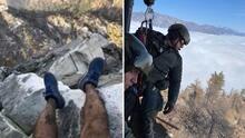 Una foto y las redes sociales le salvan la vida a un excursionista perdido en California