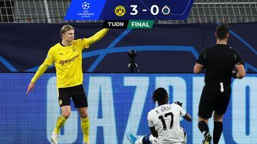Erling Haaland supera al 'Chicharito' en goles en la Champions League