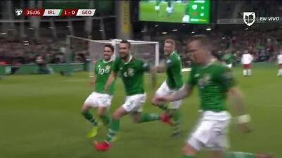 ¡GOOOL! Conor Hourihane anota para Republic of Ireland