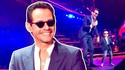"""Como dos gotas de agua: Marc Anthony encontró a un """"Mini Marc"""" durante su concierto en California"""