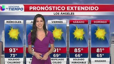 Continúa el buen tiempo en Los Ángeles y se prevé un miércoles mayormente cálido
