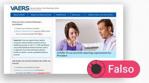 ¿Los reportes al sistema que recibe notificaciones de reacciones adversas son una prueba de que las vacunas no son seguras?