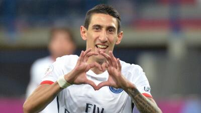 Caen 0-3 PSG: Di María hace doblete y el París historia en la primera vuelta de la Ligue 1