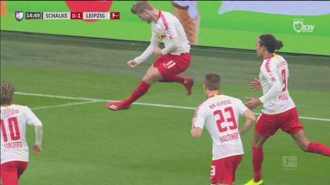 Gol de Timo Wermer y el Leipzig se pone 0-1 sobre el Schalke