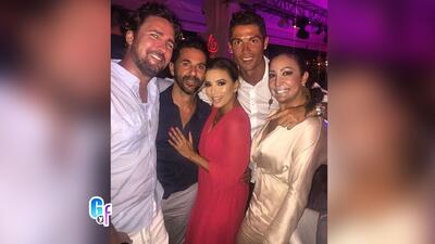 Eva Longoria estuvo de fiesta con Cristiano Ronaldo