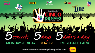 Big Names to take the stage for Cinco Conciertos Celebration