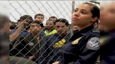 ICE agent's photo goes viral and creates controversy for detention centers
