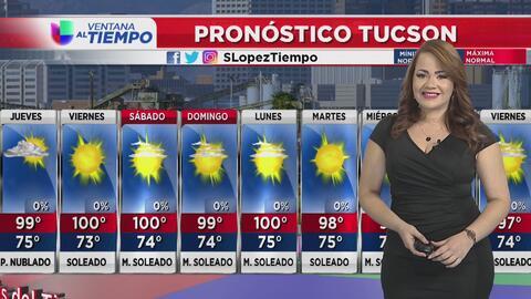 Calor y bajas probabilidades de lluvia en Arizona