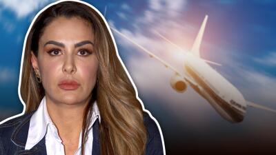 """""""Me dio terror"""": Ninel Conde sintió que el avión en el que viajaba se desplomaría"""