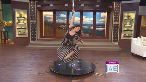 Natalia Villarejo la mejor en 'pole dance' de Puerto Rico llega a Ahora Es