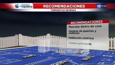 Recomendaciones en caso de tormentas severas