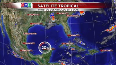 Disturbio en al golfo de México podría transformarse en tormenta tropical