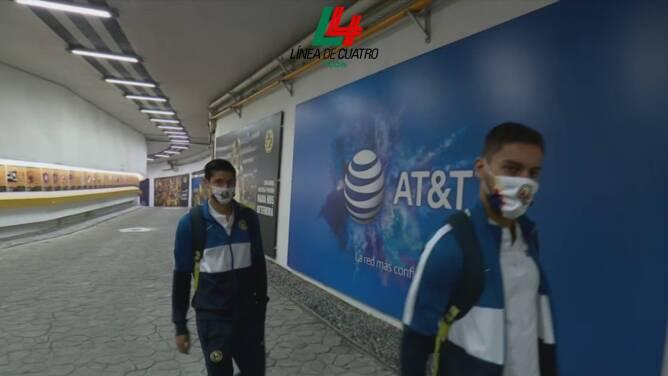 ¡Falta poco! América y Chivas ya llegaron al Estadio Azteca