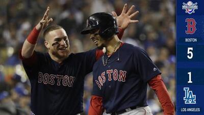 ¡Los Red Sox son campeones del mundo al vencer en cinco juegos a los Dodgers!