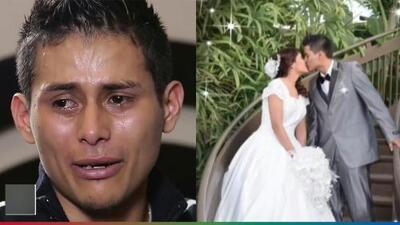 (Video) Llorando, esposo de la joven asesinada para sacarle al bebé del vientre narra lo que ha vivido