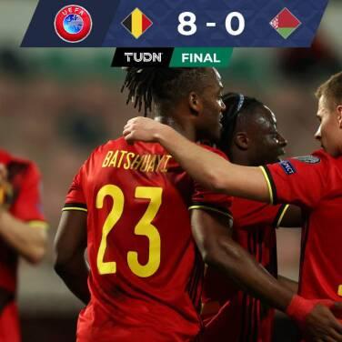 ¡Aplastante! Bélgica borró a Bielorrusia con suplentes