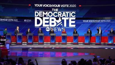 ¿Quién ganó el tercer debate demócrata? Estos son los resultados de la encuesta realizada a votantes latinos