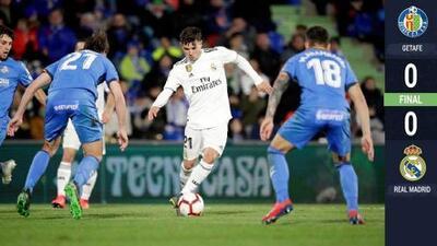 Deslucido empate del Real Madrid en visita al Getafe