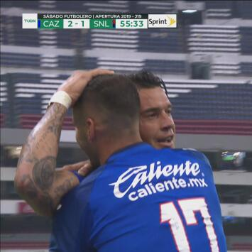 ¡Caraglio convierte su doblete y firma el 2-1 ante el San Luis!