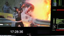 Impactante accidente de Grosjean en el GP de Bahrein