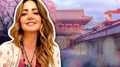 """Un viaje a Japón: el """"sueño cumplido"""" de Andrea Legarreta"""