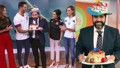 Albert Martínez celebró su primer cumpleaños con la familia de Despierta América, ¿qué deseo ya se le cumplió?