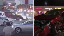 10 heridos por accidente presuntamente provocado por un peatón en Los Ángeles, esto es lo que se sabe