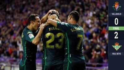 El Betis venció al Valladolid con Lainez y Guardado en el campo