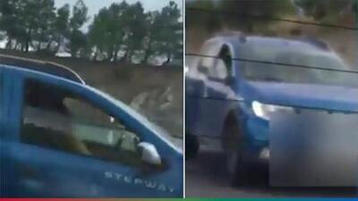 (Video) Graban a pareja teniendo sexo mientras conducían a toda velocidad