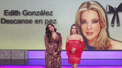 Muy tristes por la muerte de Edith González, Galilea Montijo y Andrea Escalona recordaron bellos momentos con ella