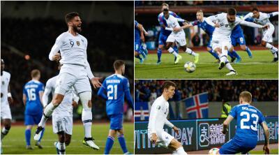 En fotos: Giroud se convierte en héroe ante Islandia rumbo a la Euro