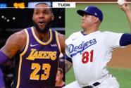 Épica reacción de LeBron al doble play del mexicano González