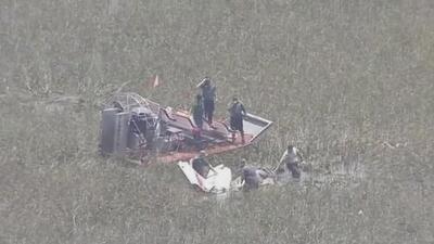 Mueren tres personas al estrellarse dos avionetas en los Everglades