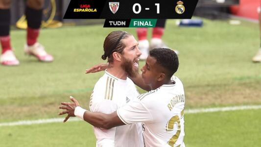 Real Madrid vence al Athletic y ve cerca el título de LaLiga